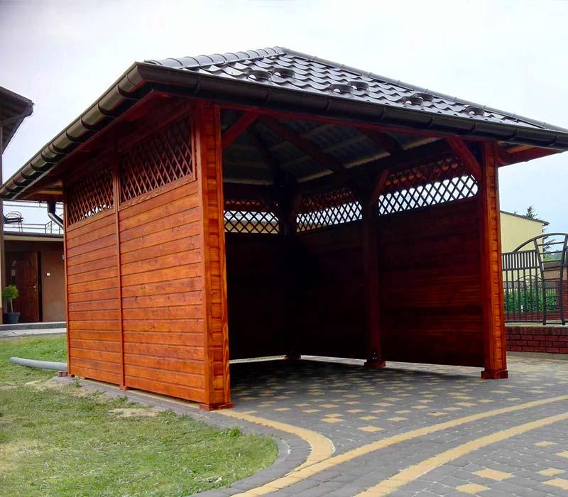 konstrukcja wiaty garażowej w Rudnej Wielkiej k/Rzeszowa
